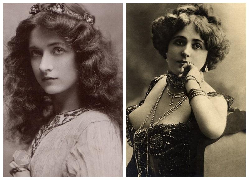 Maude Fealy y Mujer con gargantilla Belle Époque
