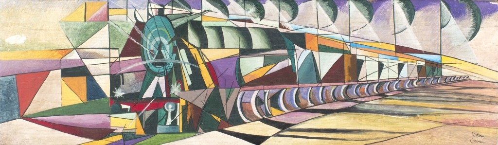 Vittorio Corona, Dynamism of a train, 1921