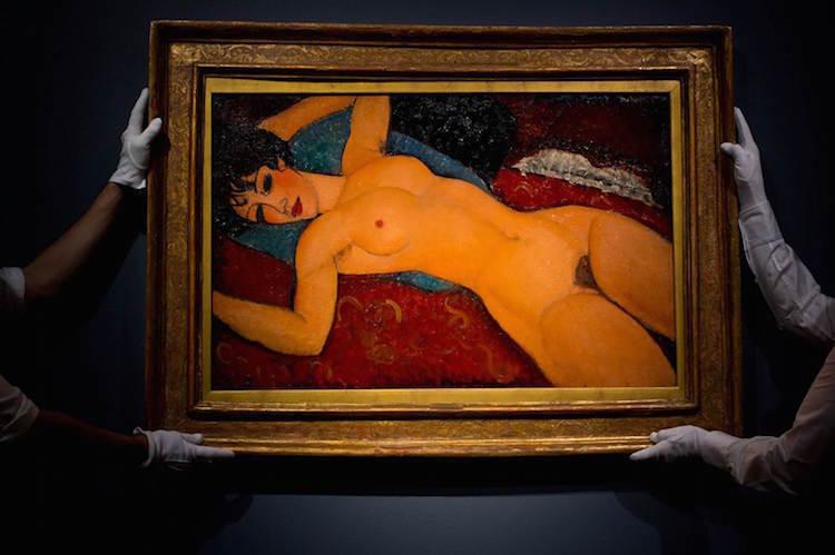 Amedeo Modigliani «Nu couché» Image via Christie's