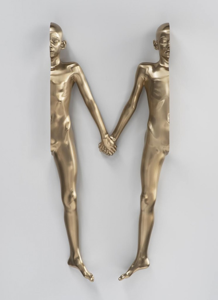 M (girl), 2015. Bronze (polished patina) 142,5 × 64,3 × 18,3 cm edition of 1 + 1 AP