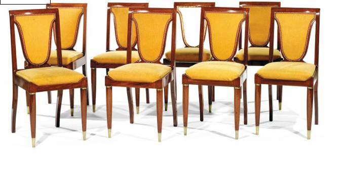 Christian KRASS (1868-1957) A set of eight neo classical chairs. Utrop: 28 300 SEK. Tajan