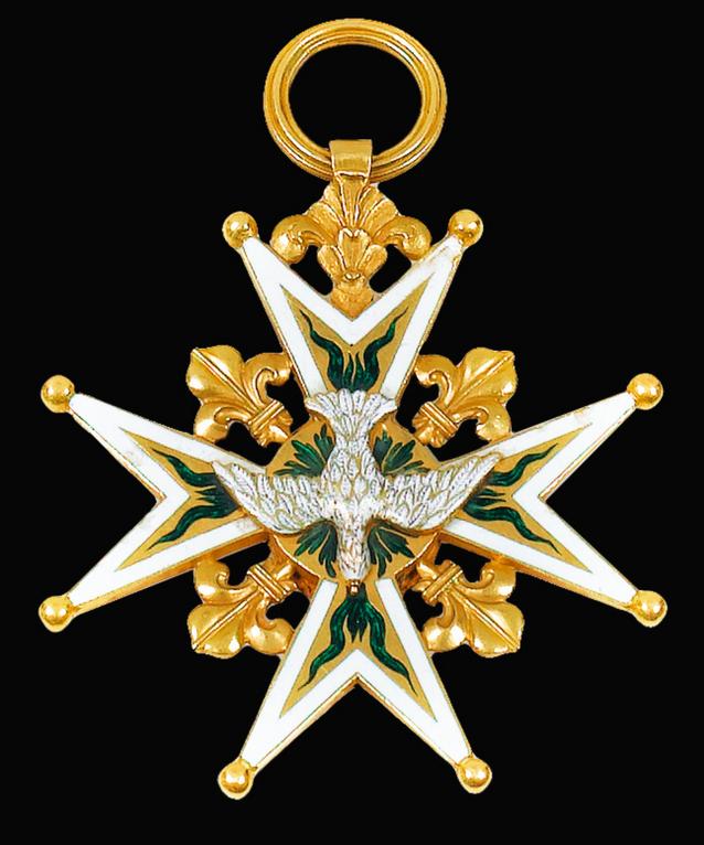 Ordre du Saint-Esprit et Ordre de Saint-Michel, croix double en or émaillé, probablement réalisée entre 1791 et 1814 et provenant probablement de Louis-Philippe d'Orléans (1773-1850), futur roi Louis-Philippe En vente chez Sotheby's