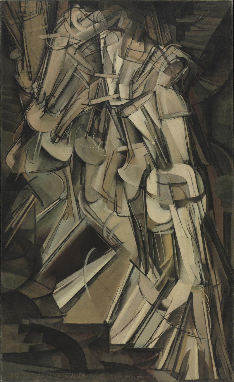 Nude Descending a Staircase, No. 2, Marcel Duchamp. 1912, oil on canvas.
