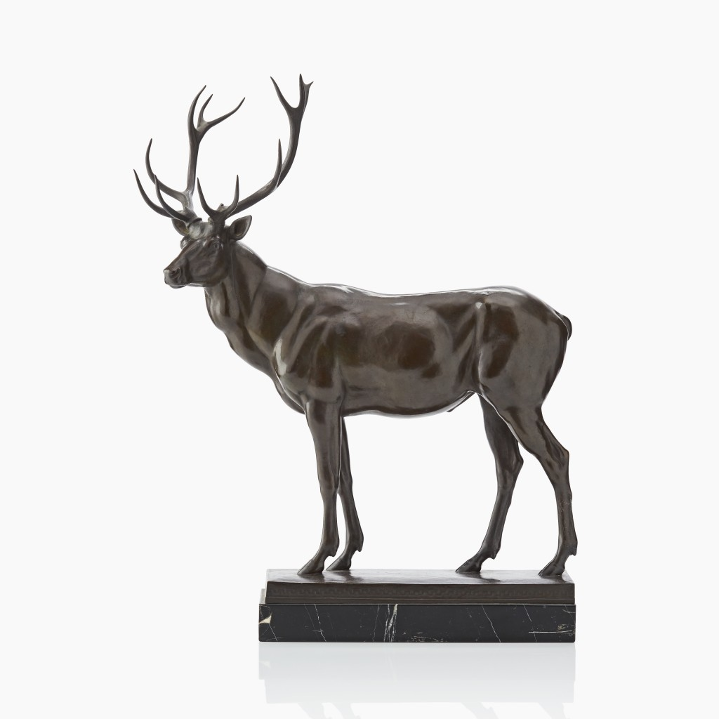 Louis Tuaillon, Stehender Hirsch, Bronze