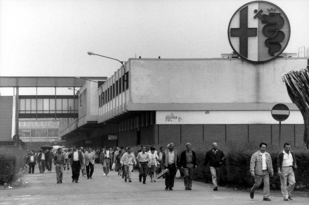 Lo storico stabilimento dell'Alfa Romeo ad Arese.