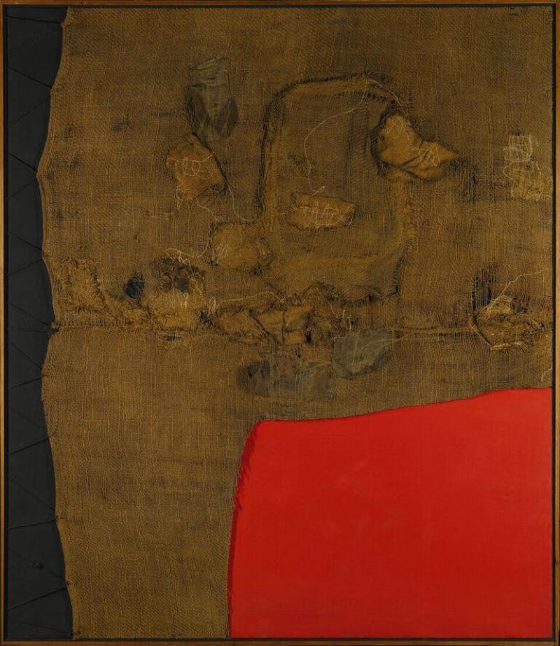 Alberto Burri, Sacco E Rosso (1959) Foto: Sotheby's London