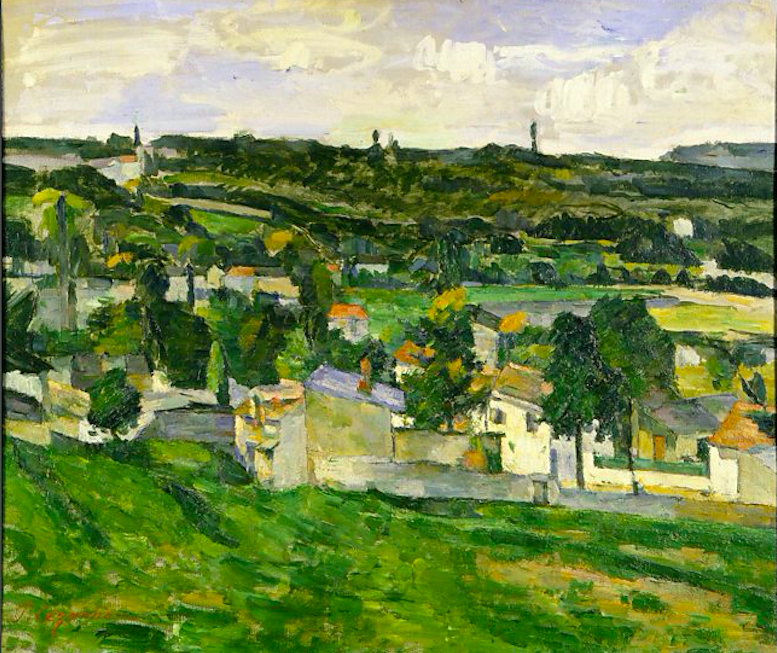 Veduta di Auvers-sur-Oise, Paul Cezanne. 1879-1882, olio su tela.