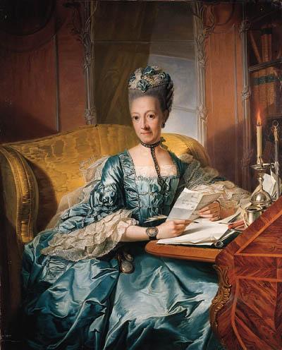 Ulrike Sophie, Herzogin zu Mecklenburg (1923-1813) trug ihre Taschenuhr sichtbar auf Hüfthöhe