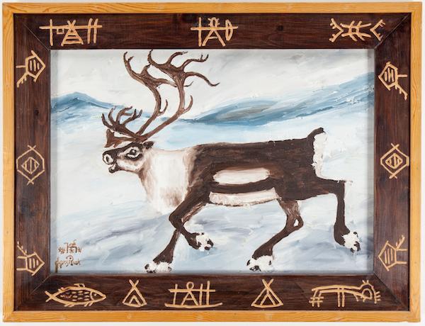 Lars Pirak, olja på duk, signerad. Såldes hos Bukowskis Market för 8800 kronor.