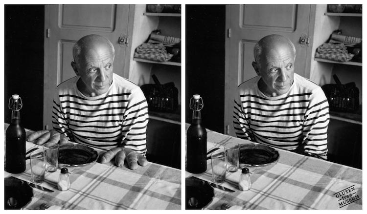Även Robert Doisneaus porträtt av Pablo Picasso blir något helt annat som glutenfri