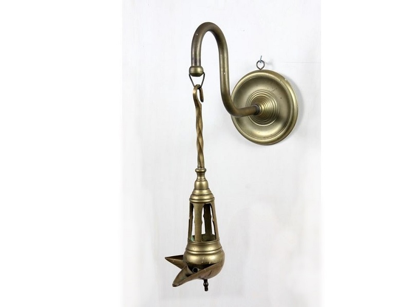 Lámpara árabe de aceite en bronce