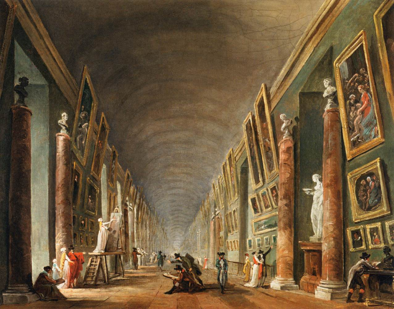 La Grande Galerie  Hubert Robert Image via le Louvre