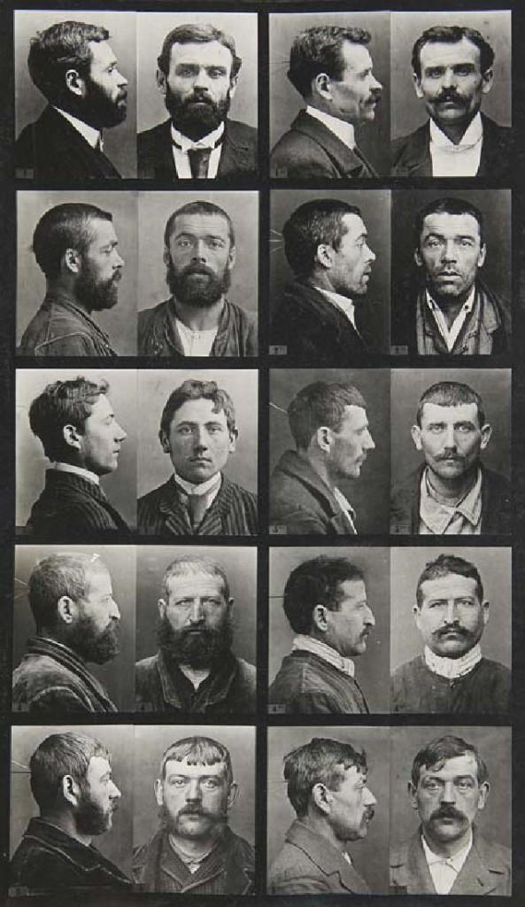 Alphonse Bertillon (1853-1914) - Cours théorique de signalement descriptif, 521 physiognomischen / anthropometrischen Aufnahmen Startpreis: 400 EUR