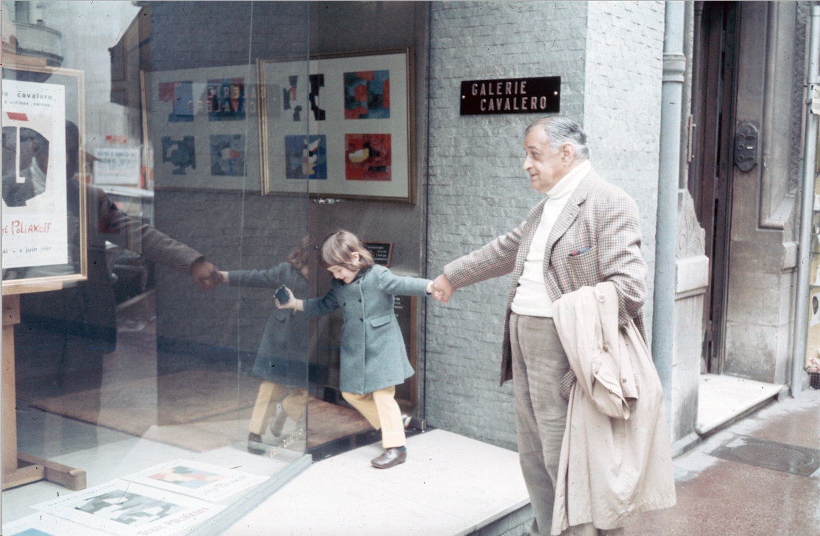 Serge Poliakoff and his granddaughter Marie-Victoire PoliakoffImage: Alexis Poliakoff