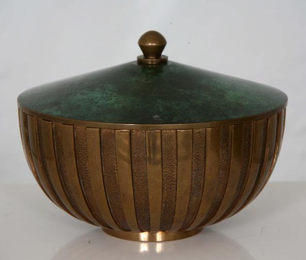 Ingelmark, bronsskål, Tinos Aegte, nätauktioner, Barnebys.com
