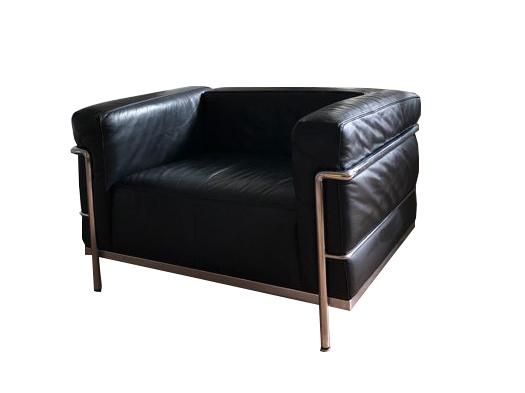 Le Corbusier pour Cassina, fauteuil noir LC3, 1928