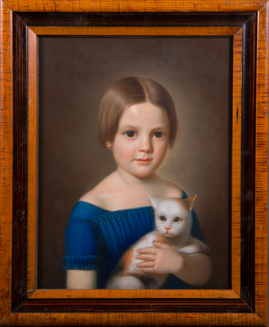 Girl and Cat (1850), Pastel