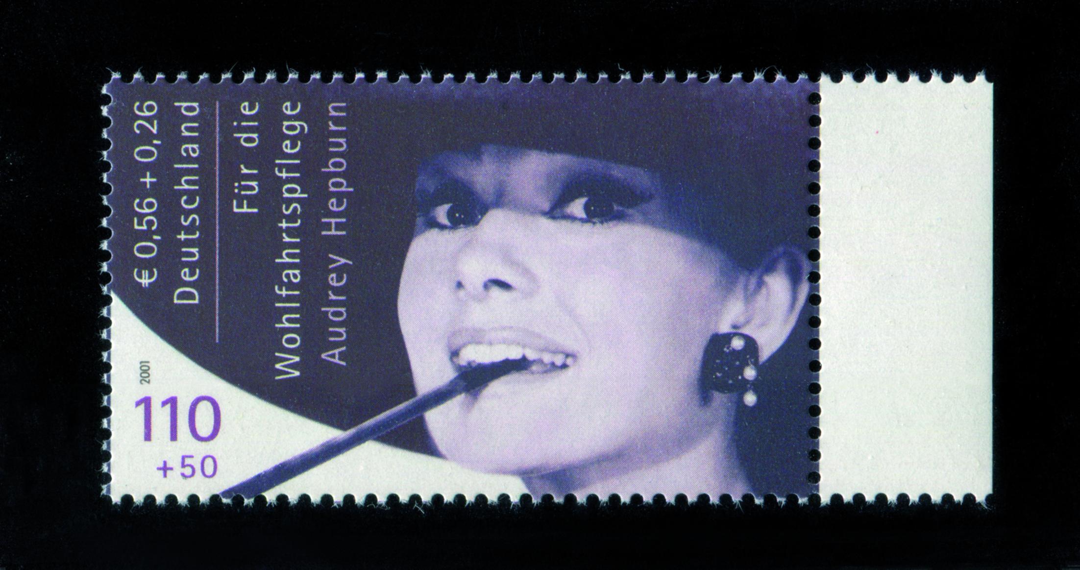 Wohlfahrtsmarke Audrey Hepburn, Deutschland 2001 | Foto: eBay Inc.
