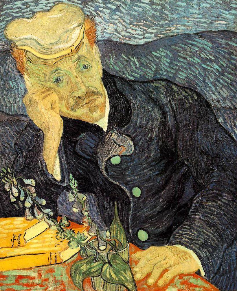 Vincent van Gogh, Portrait du Dr. Gachet, 1889, image via Wikipedia