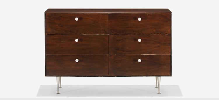 GEORGE NELSON & ASSOCIATES. Thin Edge cabinet, model 5221. Herman Miller, USA 1952. Low estimate $3.000
