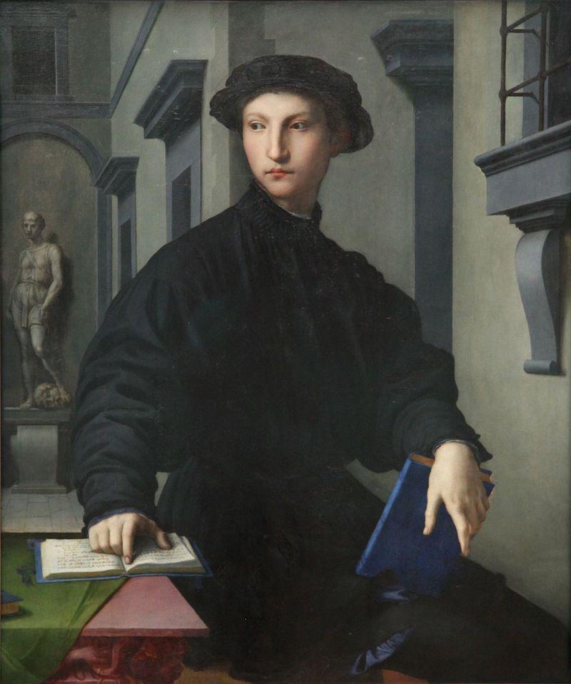 Ritratto di Ugolino Martelli, 1535, immagine via Wikipedia.