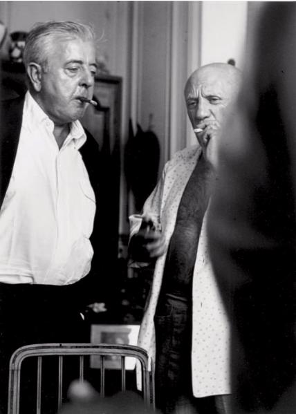 ANDRE VILLERS 1930  Picasso et Jacques Prevert, Villa La Californie, Cannes, 1960 Yann Le Mouel Estimation Basse: 1 000 €