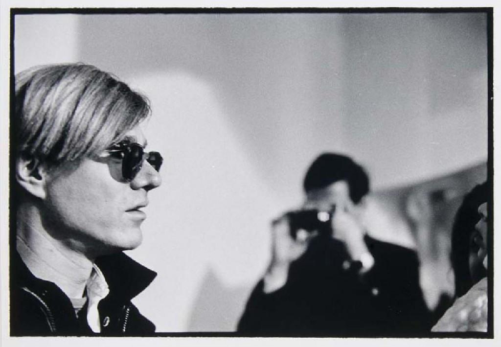 NAT FINKELSTEIN (1933 Brooklyn - 2009 Shandaken) - Andy Warhol, Silbergelatineabzug, nummeriert und signiert, 1989
