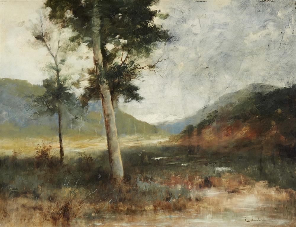 Enrique Swinburn Kirk (1859 Santiago de Chile 1929), Landschaft in Zentralchile, Öl/Karton, signiert | Foto: Lempertz
