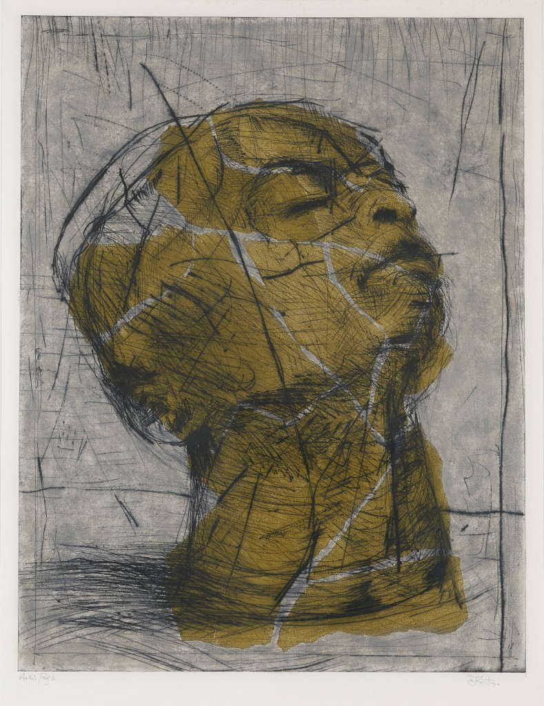 WILLIAM KENTRIDGE (*1955 Johannesburg) - Head (Green), kolorierte Aquatinta, signiert, 1992