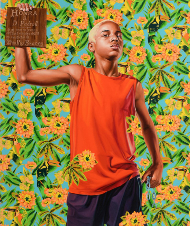 Kehinde Wiley, Alegoria at lei do Belly Book, 2009, image © Piguet Auction House