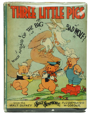 Walt Disney, Three Little Pigs, 1934 Shapero Rare Books