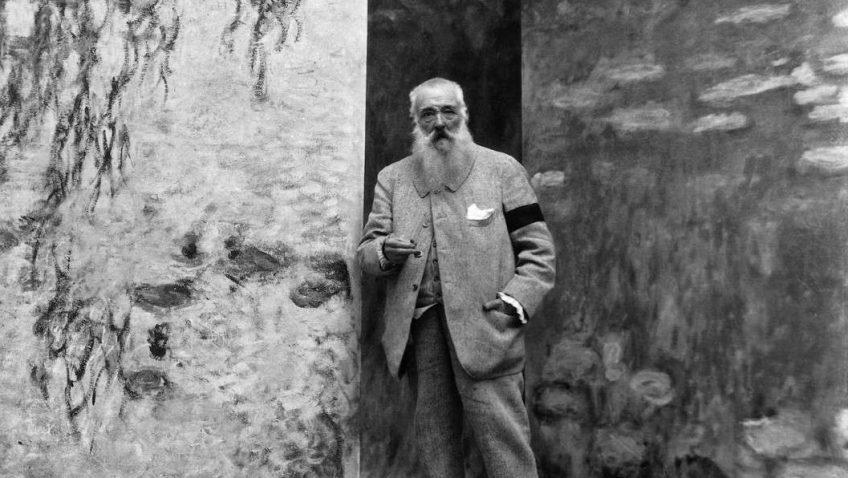 Claude Monet inmitten seiner Seerosen