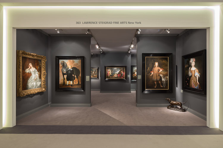 Chinese buyers are purchasing European Old Masters. Lawrence Steigrad Fine Arts exhibition stand at TEFAF in Masstricht 2017