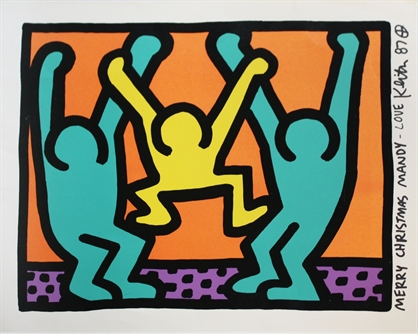 keith-haring-pop-shop-i-christmas-card-prints-and-multiples-screenprint