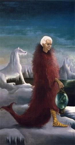 Leonora Carrington, porträtt av Max Ernst, 1939.