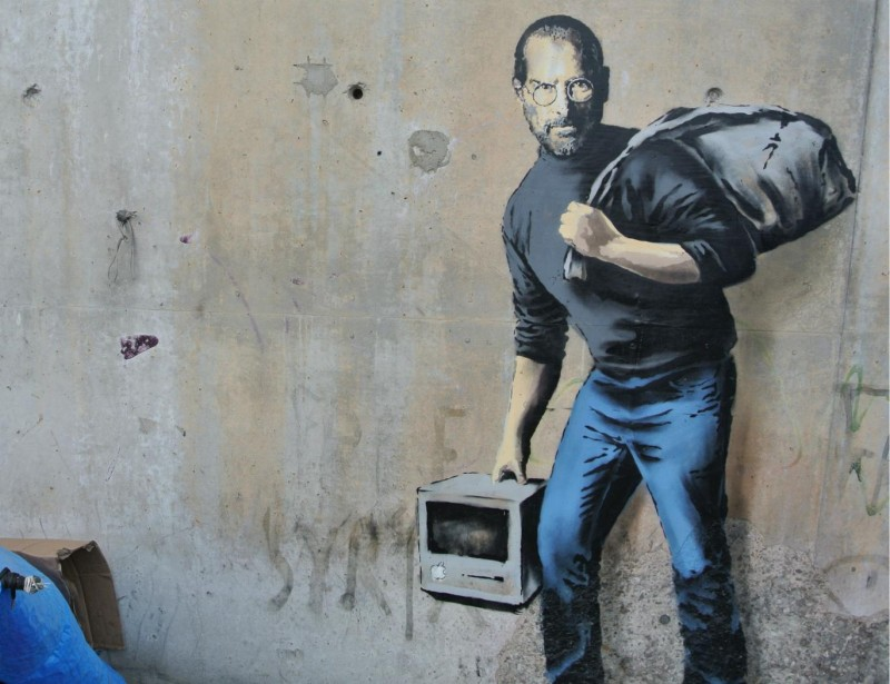 Banksys verk av Steve Jobs