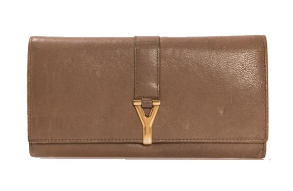 Yves Saint Laurent, Y Line Long Leather, portefeuille, Italie Auctionata