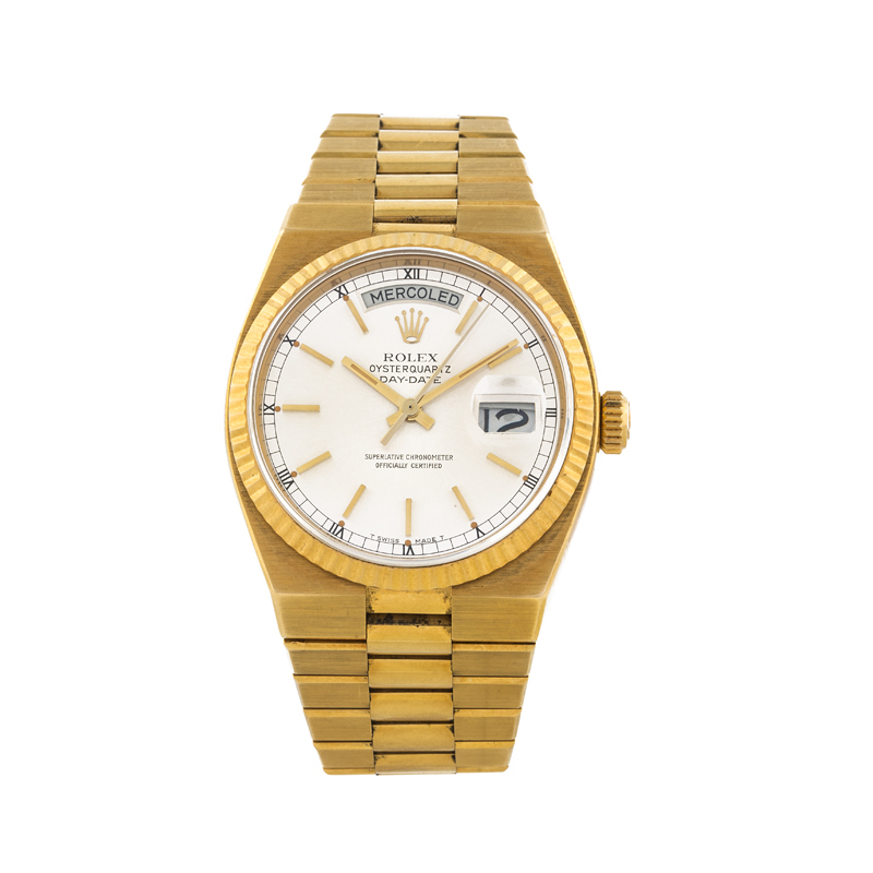 ROLEX - Oyter Day-Date, yellow gold, 1980s Estimate: 6 000-7 000 EUR Result: 7 380 EUR