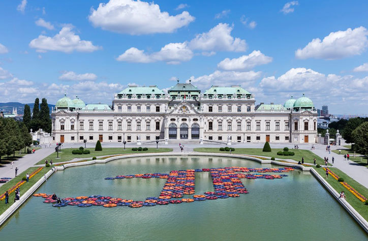 L'installation « F Lotus » d'Ai Weiwei aux jardins du Belvédère, à Vienne, en Autriche Photo: Hans Klaus Techt/AFP/Getty Images