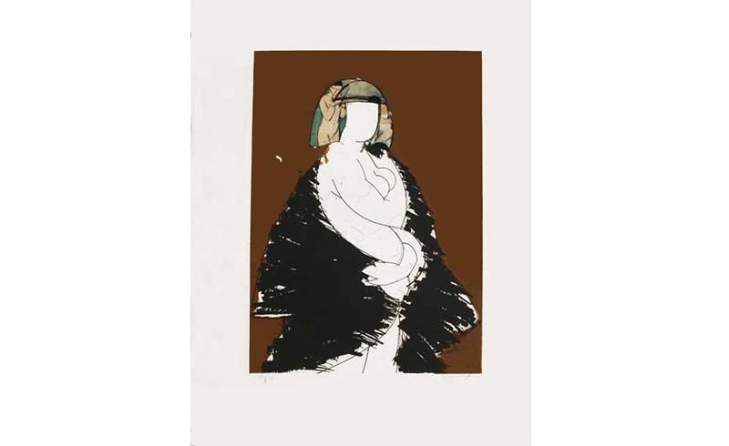 """MANOLO VALDÉS. """"Helene VI"""". Grabado al Aguafuerte y Collage (2005)"""