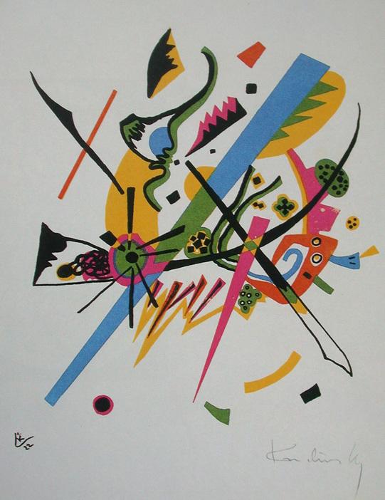 Small Worlds I, Wassily Kandinsky. 1922, lithographie, image via Wikipedia