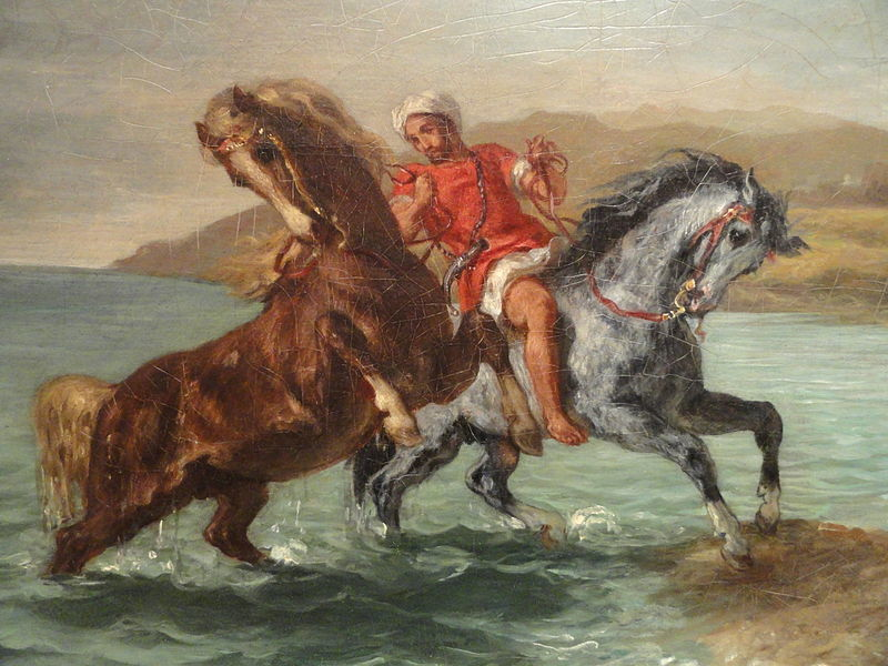 Eugène Delacroix, Horses coming out of the sea, 1860
