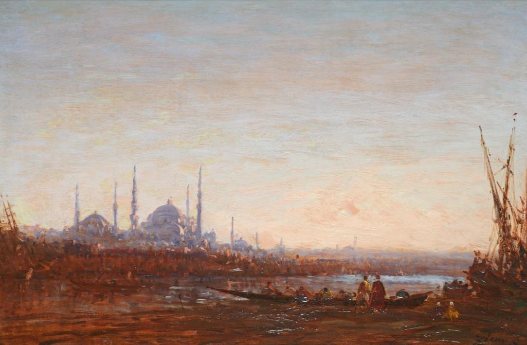 Félix Ziem Vue d'Istanbul  Huile sur panneau