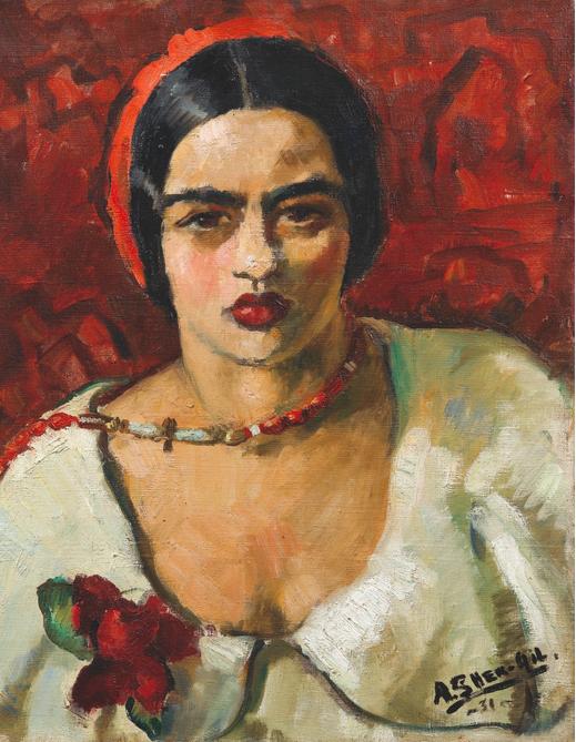 Amrita Sher-Gil (1913-1941) Sans titre (self-portrait) En vente chez Sotheby's