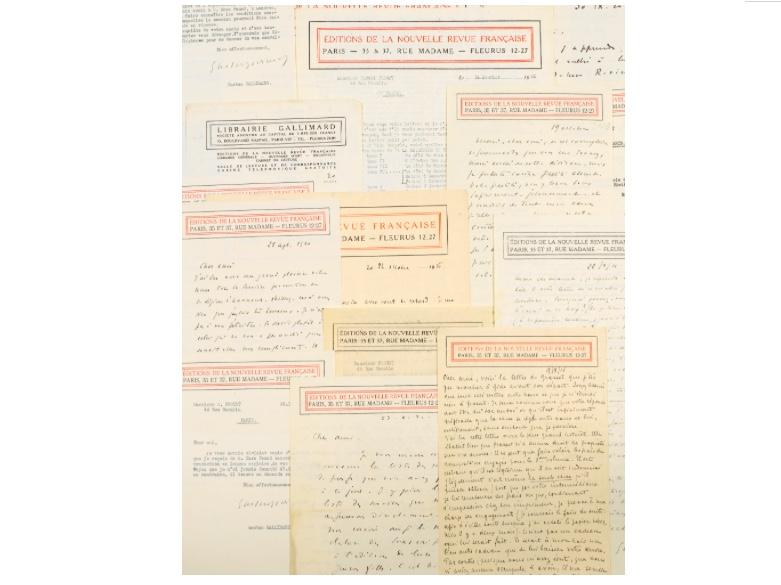 Gaston Gallimard, La Nouvelle revue Française, correspondance entre Gallimard et Marcel Proust, image ©Sotheby's