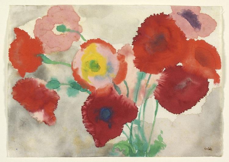 """""""Red Poppies"""" av Emil Nolde"""