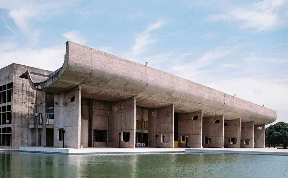 The Palace of Assembly is one of three concrete buildings that make up the Capitol Complex in Chandigarh Image: Dezeen
