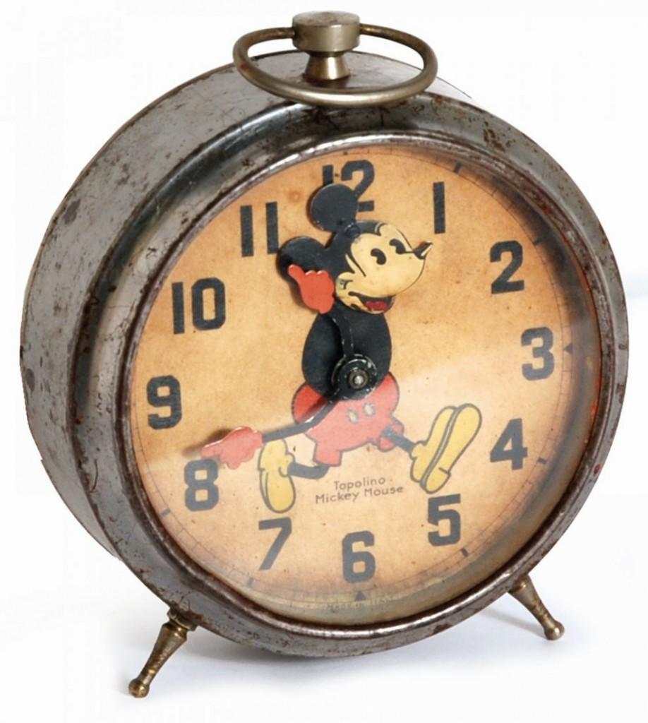 Mickey Mouse alarm clock, working, 1930s Estimate: 350-750 EUR