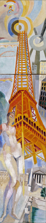Robert Delaunay, La Ville de Paris, la Femme et la Tour Eiffel, 1925 Image via DICKINSON