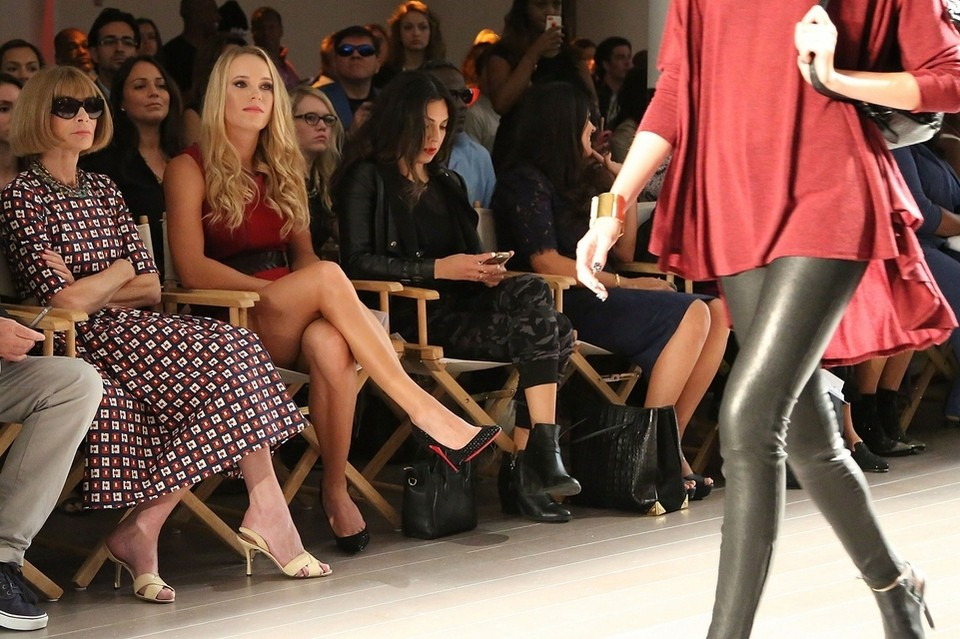 Anna Wintour and Caroline Wozniacki front row the Serena Williams Signature Statement by HSN fashion